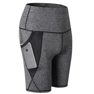Women's Active Fitness Pocket Sports Shorts - For Yoga Running Activewear Workout Gym Running