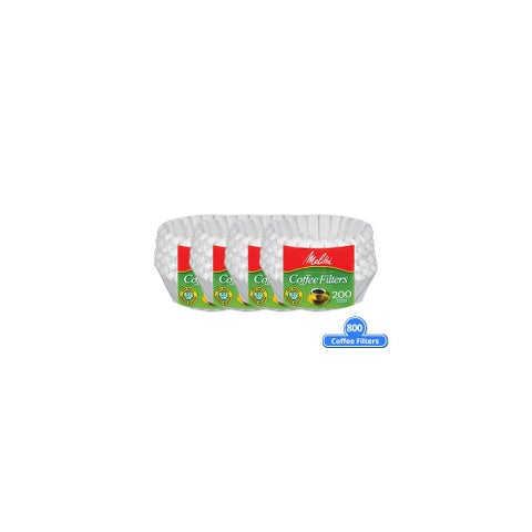 Melitta 629524 Basket Coffee Filter 800 Counts (4 Pack of 200 Counts) Basket Coffee Filters 200 Counts