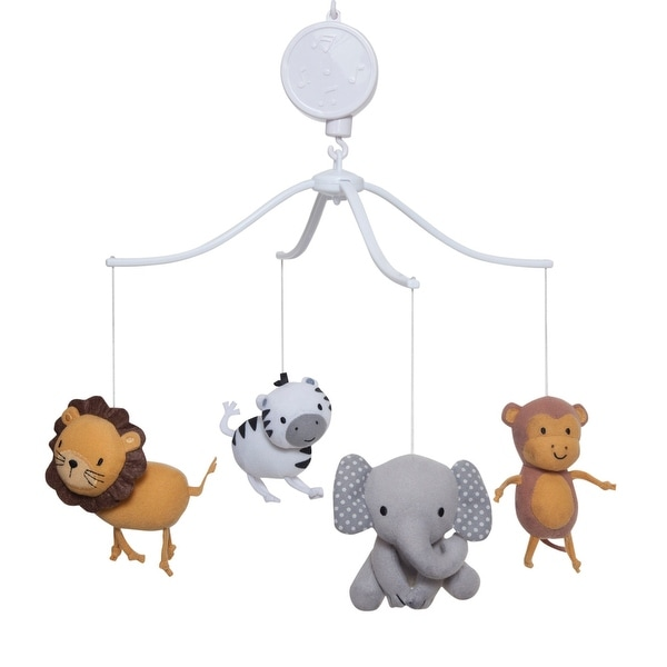 Bedtime Originals Choo Choo Elephant, Lion, Monkey and Zebra Animals Musical Baby Crib Mobile
