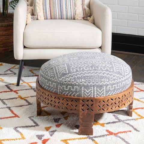 Sala Grey Upholstered Ottoman