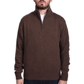 Valentino Men's Zip Neck Sweater Brown