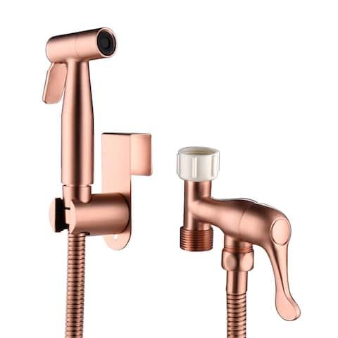 Handheld Sprayer,Stainless Steel Bidet Sprayer for Toilet, Rose Gold