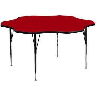 Fun & Games Activity Table 60'' Flower Red Thermal Laminate Adj Height
