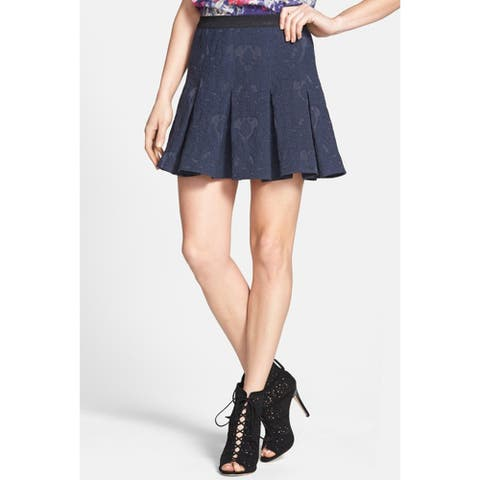 Rebecca Taylor Pleated Skirt, Navy, 0