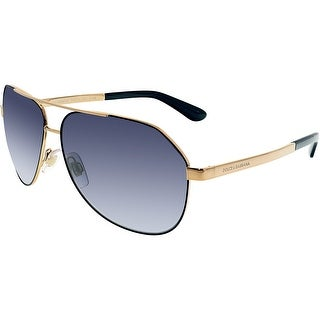 Dolce & Gabbana Men's Aviator DG2144-12968G-61 Gold Oval Sunglasses