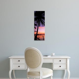 Easy Art Prints Panoramic Image 'Silhouette of palm trees at dawn, Pine Island, Lee County, Florida, USA' Canvas Art