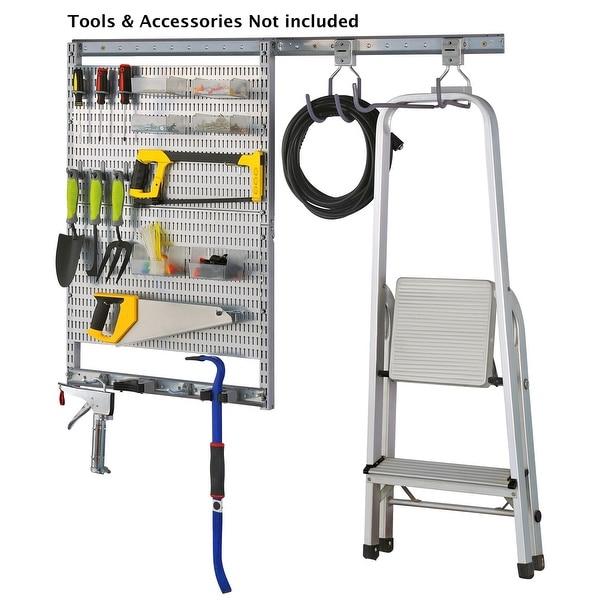 AllSpace 30 Piece Utility Garage Kit, Wall Mount, Storage, Organization