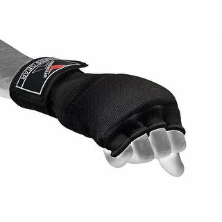 Boxing Fist Inner Hand Wraps Padded Gloves MMA Wrist Fight Long Strap Black