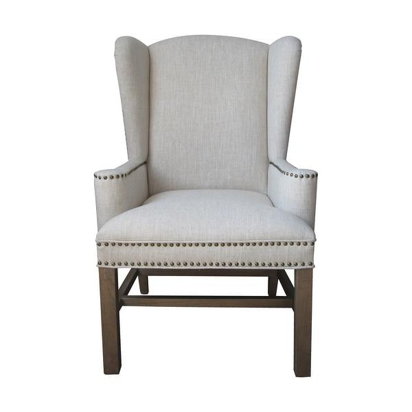 "Elk Home 6525301 Allcott 28"" Wide Wood Framed Linen Arm Chair - Toffee"