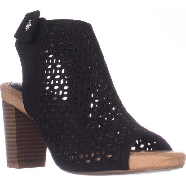 GB35 Joiseyy Block Heel Dress Sandals, Black