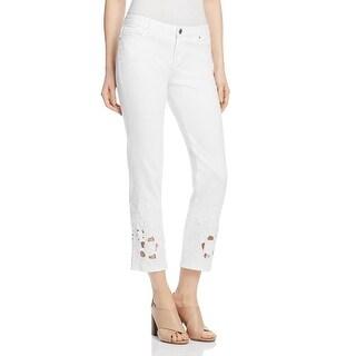 Elie Tahari Womens Kianna Jeans Embellished Cut-Out