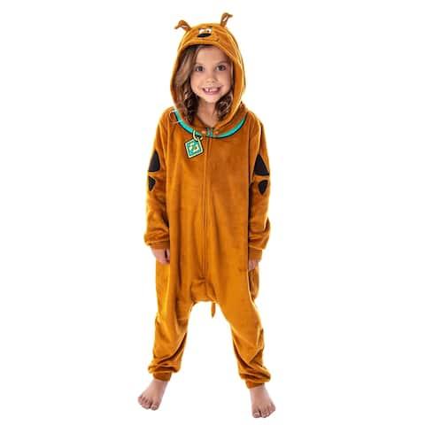 Scooby Doo Costume Kids Onesie Union Suit Sleeper Pajamas