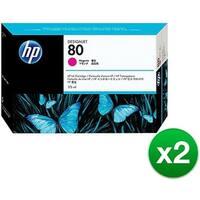 HP 80 175-ml Magenta DesignJet Ink Cartridge (C4874A) (2-Pack)