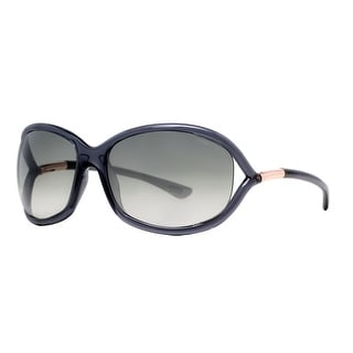 Tom Ford Jennifer TF008 0B5 Transparent Dark Grey Soft Square Sunglasses - clear gray - 61mm-16mm-120mm