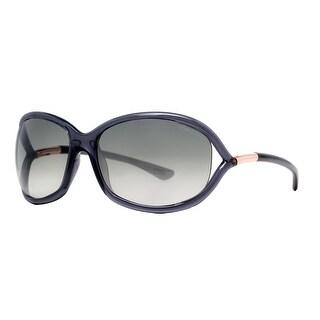 Tom Ford Jennifer TF 8 0B5 Transparent Dark Grey Women's Soft Square Sunglasses - clear gray - 61mm-16mm-120mm