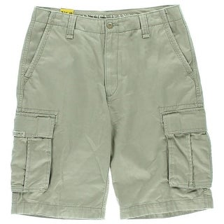 Nautica Mens Cotton Flat Front Cargo Shorts