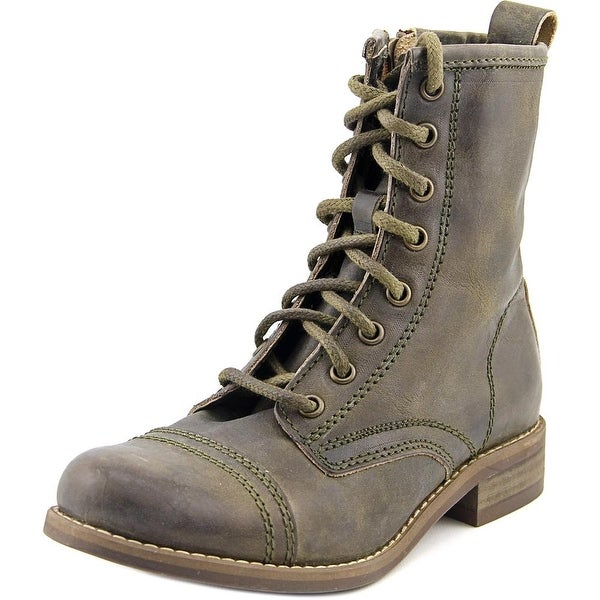 Steve Madden Charrie Cap Toe Leather Combat Boot