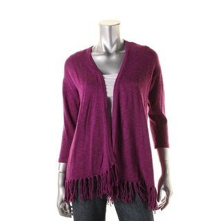 American Living Womens Fringe Open Front Cardigan Sweater