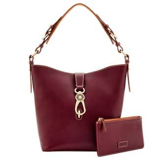 Dooney & Bourke Toscana Lily Bucket (Introduced by Dooney & Bourke at $358 in Jan 2017) - Maroon|https://ak1.ostkcdn.com/images/products/is/images/direct/6b226ad91fcd344fa613fcb21c428e95438b17d3/Dooney-%26-Bourke-Toscana-Lily-Bucket-%28Introduced-by-Dooney-%26-Bourke-at-%24358-in-Jan-2017%29.jpg?impolicy=medium