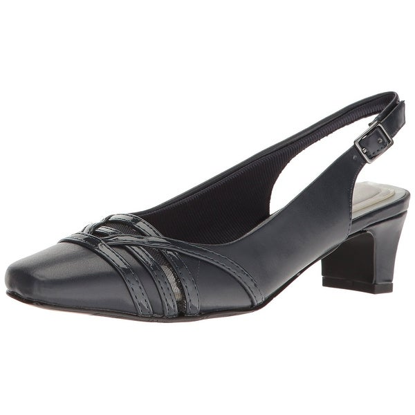 Easy Street Womens Kristen Square Toe SlingBack Classic Pumps