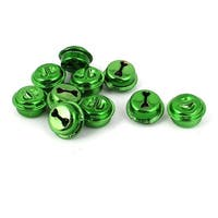10 Pcs Metal 15mm Dia Christmas Tree Party Ring Bell Decoration Green
