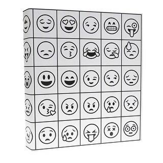 Aurora Illustrator Emoji Binder, 1 Inch Ring