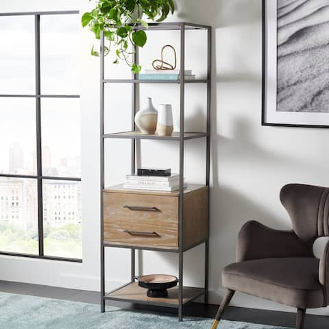 "SAFAVIEH Jola 5-Shelf 1-Drawer Etagere Bookshelf - 22"" W x 18"" L x 72"" H"
