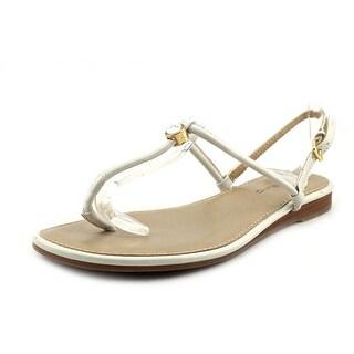 Bandolino Depew Women Open Toe Synthetic White Thong Sandal