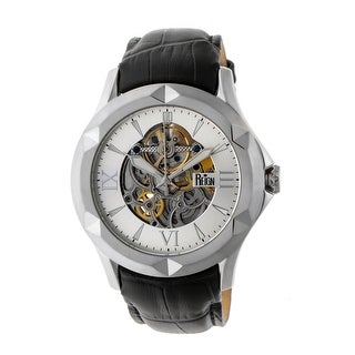 Reign Dantes Men's Automatic Watch, Genuine Leather Band, Sapphire-Coated Crystal