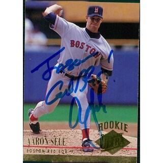Signed Sele Aaron Boston Red Sox 1994 Fleer Baseball Card P To Jason autographed