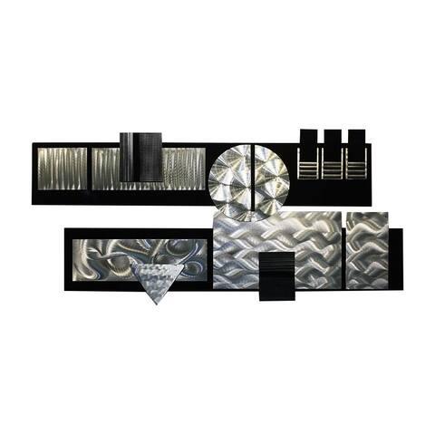 Statements2000 Black/Silver Modern Metal Wall Art Sculpture by Jon Allen - Winter Storm II