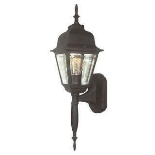 Woodbridge Lighting 60003-BKP 1 Light Wall Sconce from the Basic Outdoor Collect - powder coat black