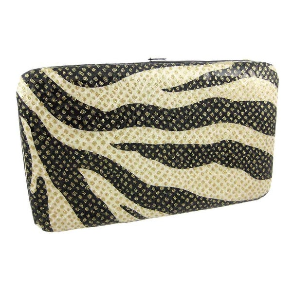 ca10c3f320 Shop Zebra Print Frame Wallet Purse Gold Glitter - Free Shipping On ...