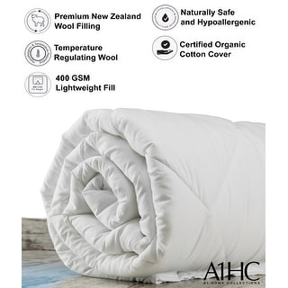 Link to All Season 100% NewZealand Wool Fill Duvet Insert Organic Cotton Cover Similar Items in Mattress Pads & Toppers