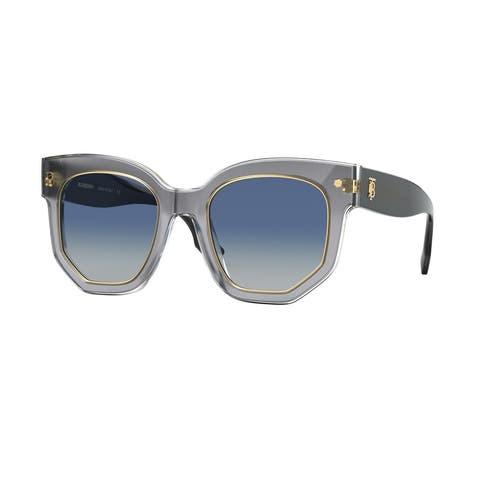 Burberry BE4307F 38314L 50 Top Grey On Transparent Woman Irregular Sunglasses