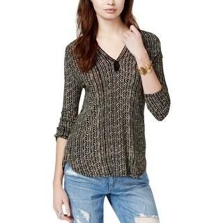 Lucky Brand Womens Blouse Crochet Ladder Stitch - s