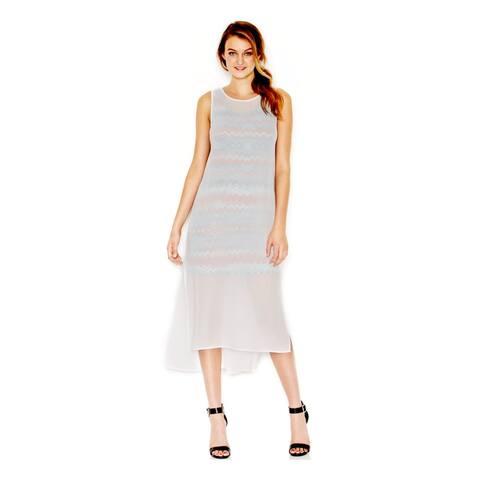 KENSIE Orange Sleeveless Above The Knee Sheath Dress Size L