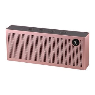 TechComm Pelican Wireless Portable Bluetooth Hi-Fi Speaker with Round Rare Earth Dual 8W Speaker (Option: Pink)