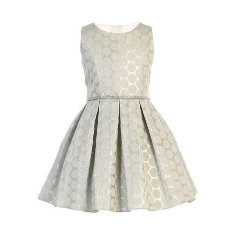 Sweet Kids Mint Polka Dot Pockets Jacquard Easter Dress Big Girls