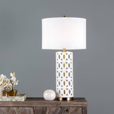 """nuLOOM Emerson 31"""" Ceramic Table Lamp - 14"""" W x 15"""" D x 30.5"""" H"""
