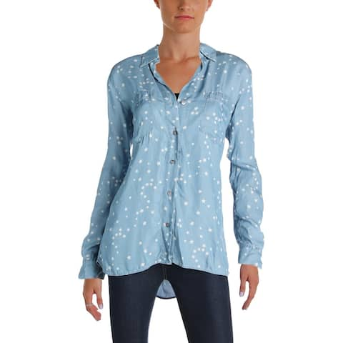 4Our Dreamers Womens Button-Down Top Tencel Printed