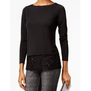 Michael Kors NEW Black Womens Size Medium M Lace-Hem Boat Neck Blouse|https://ak1.ostkcdn.com/images/products/is/images/direct/6b2a5f92667230e7623992260ee516a42a476f85/Michael-Kors-NEW-Black-Womens-Size-Medium-M-Lace-Hem-Boat-Neck-Blouse.jpg?impolicy=medium