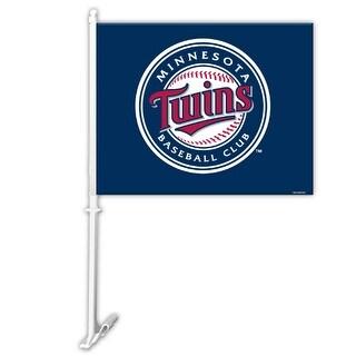 """Fremont Die Inc Minnesota Twins Car Flag With Wall Brackett Car Flag With Wall Brackett"""