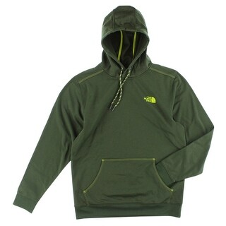 The North Face Mens Quantum Hoodie Army Green - army green/highlighter yellow - M