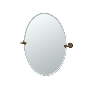 "Gatco 4039 Tavern 24"" Wall-Mounted Frameless Oval Mirror"
