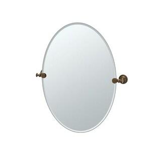 "Gatco 4039 Tavern 24"" Wall-Mounted Frameless Oval Mirror - N/A"