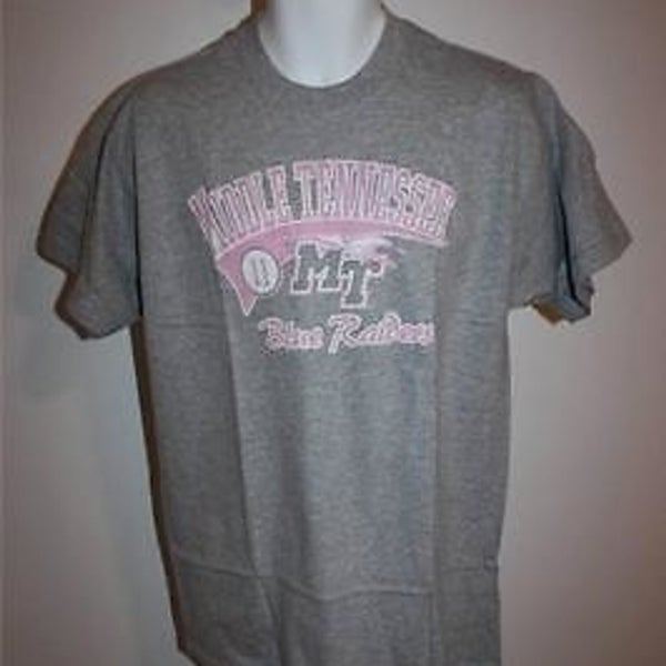 c31911c0 Middle Tennessee Blue Raiders WOMENS XLARGE XL Cute Gray&Pink T-Shirt 29HA
