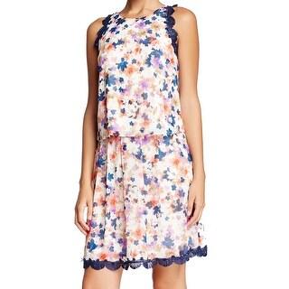 Jessica Simpson NEW White Navy Womens Size 12 Floral Print Skirt Set