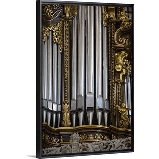 """Church organ, Saint Stephan's Cathedral, Passau, Germany"" Black Float Frame Canvas Art"