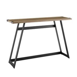 "Offex 46"" Urban Industrial Metal Wrap Entry Table - Rustic Oak"